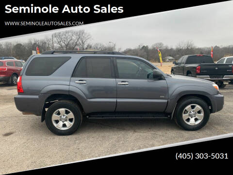 2008 Toyota 4Runner for sale at Seminole Auto Sales in Seminole OK
