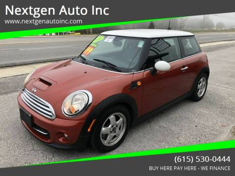 2011 MINI Cooper for sale at Nextgen Auto Inc in Smithville TN