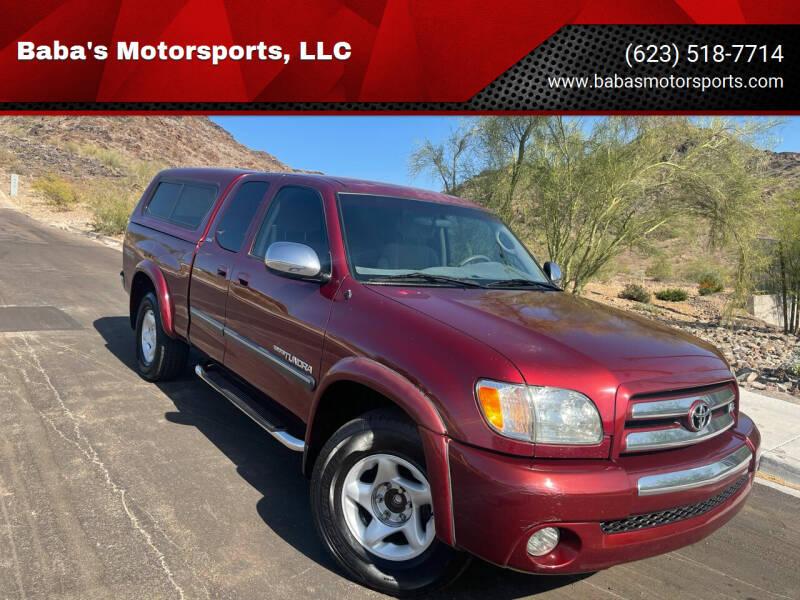 2003 Toyota Tundra for sale at Baba's Motorsports, LLC in Phoenix AZ