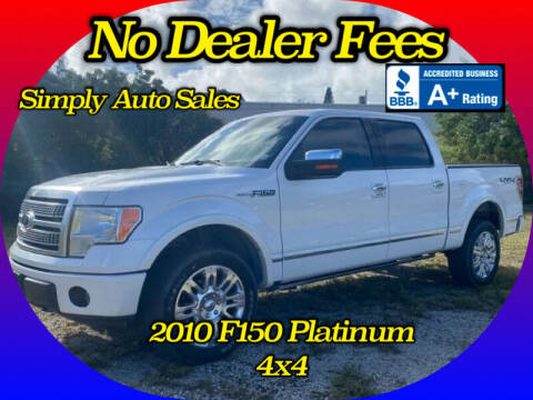 2010 Ford F-150 for sale at Simply Auto Sales in Palm Beach Gardens FL