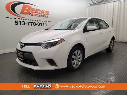 2015 Toyota Corolla for sale at Becks Auto Group in Mason OH
