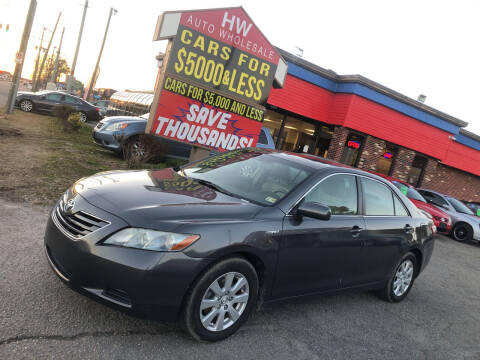 2008 Toyota Camry Hybrid for sale at HW Auto Wholesale in Norfolk VA