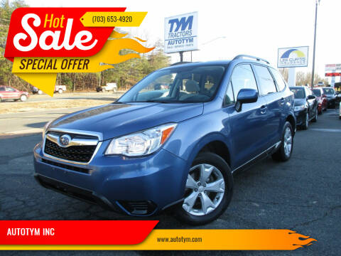 2016 Subaru Forester for sale at AUTOTYM INC in Fredericksburg VA