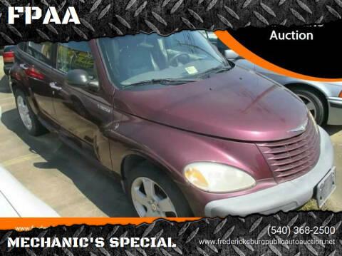 2001 Chrysler PT Cruiser for sale at FPAA in Fredericksburg VA