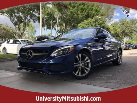 2017 Mercedes-Benz C-Class for sale at FLORIDA DIESEL CENTER in Davie FL