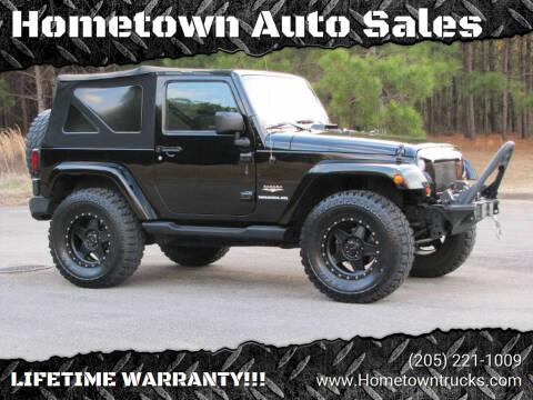 2013 Jeep Wrangler for sale at Hometown Auto Sales - SUVS in Jasper AL