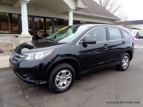 2014 Honda CR-V for sale at DEALS UNLIMITED INC in Portage MI