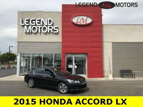 2015 Honda Accord for sale at Legend Motors of Waterford - Legend Motors of Ferndale in Ferndale MI