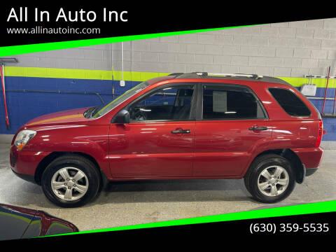 2009 Kia Sportage for sale at All In Auto Inc in Addison IL