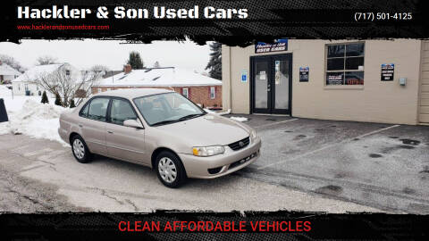 2001 Toyota Corolla for sale at Hackler & Son Used Cars in Red Lion PA