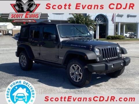 2017 Jeep Wrangler Unlimited for sale at SCOTT EVANS CHRYSLER DODGE in Carrollton GA