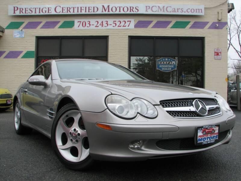 2003 Mercedes-Benz SL-Class for sale at Prestige Certified Motors in Falls Church VA