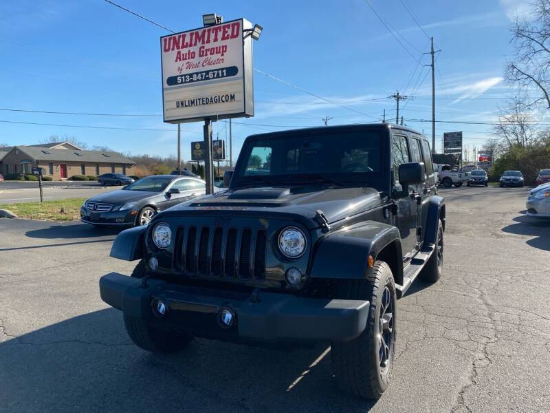 2018 Jeep Wrangler JK Unlimited for sale at Unlimited Auto Group in West Chester OH