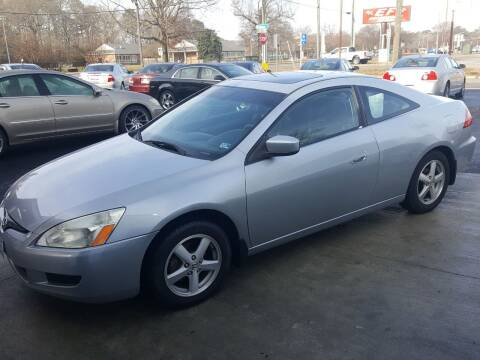 2003 Honda Accord for sale at Premier Auto Sales Inc. in Newport News VA