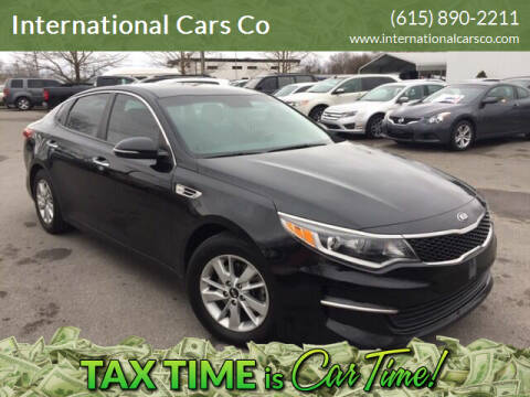 2016 Kia Optima for sale at International Cars Co in Murfreesboro TN