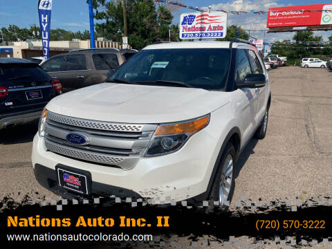 2013 Ford Explorer for sale at Nations Auto Inc. II in Denver CO