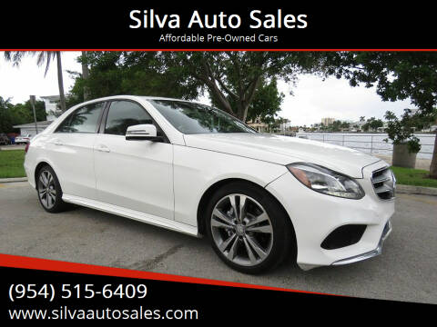 2014 Mercedes-Benz E-Class for sale at Silva Auto Sales in Pompano Beach FL