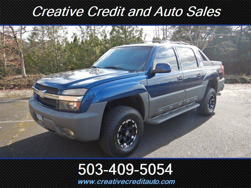 2002 Chevrolet Avalanche for sale at Creative Credit & Auto Sales in Salem OR