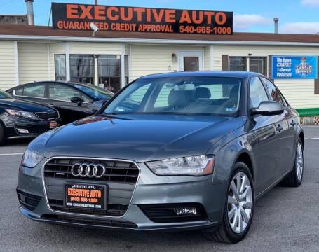 2014 Audi A4 for sale at Executive Auto in Winchester VA