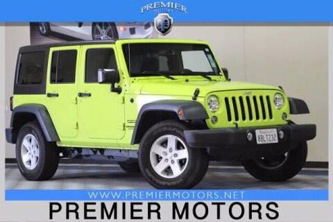 2017 Jeep Wrangler Unlimited for sale at Premier Motors in Hayward CA