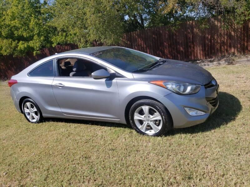 2013 Hyundai Elantra Coupe for sale at El Jasho Motors in Grand Prairie TX