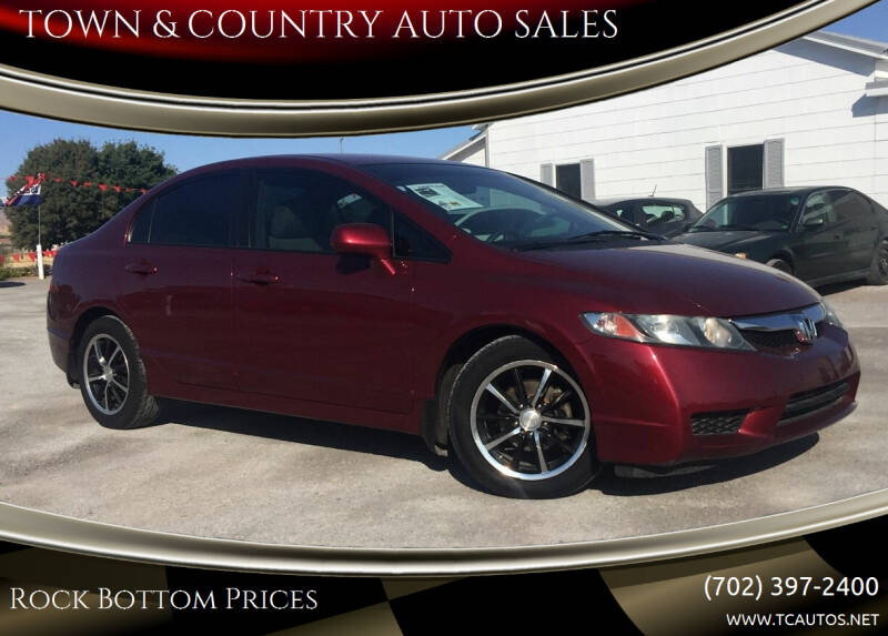 2010 Honda Civic for sale at TOWN & COUNTRY AUTO SALES in Overton NV