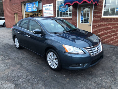 2013 Nissan Sentra for sale at FREEDOM AUTO LLC in Wilkesboro NC