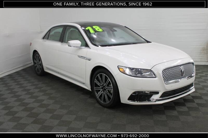 2018 Lincoln Continental for sale in Wayne, NJ