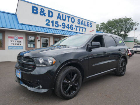 2013 Dodge Durango for sale at B & D Auto Sales Inc. in Fairless Hills PA