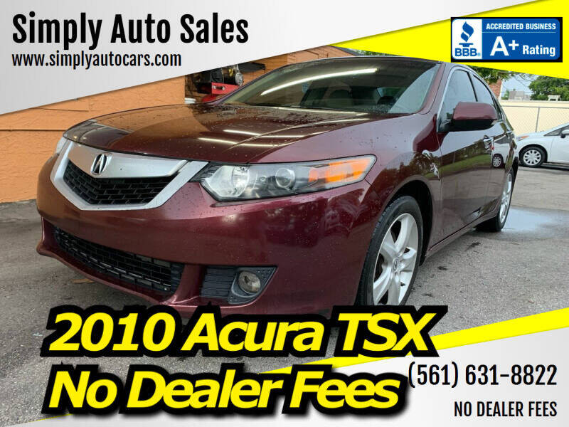 2010 Acura TSX for sale at Simply Auto Sales in Palm Beach Gardens FL