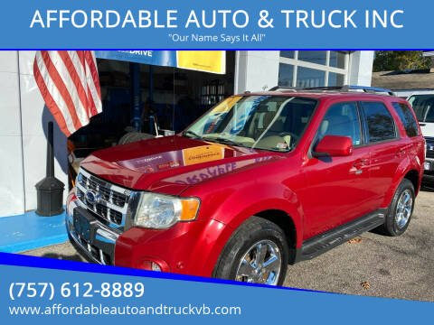 2011 Ford Escape for sale at AFFORDABLE AUTO & TRUCK INC in Virginia Beach VA