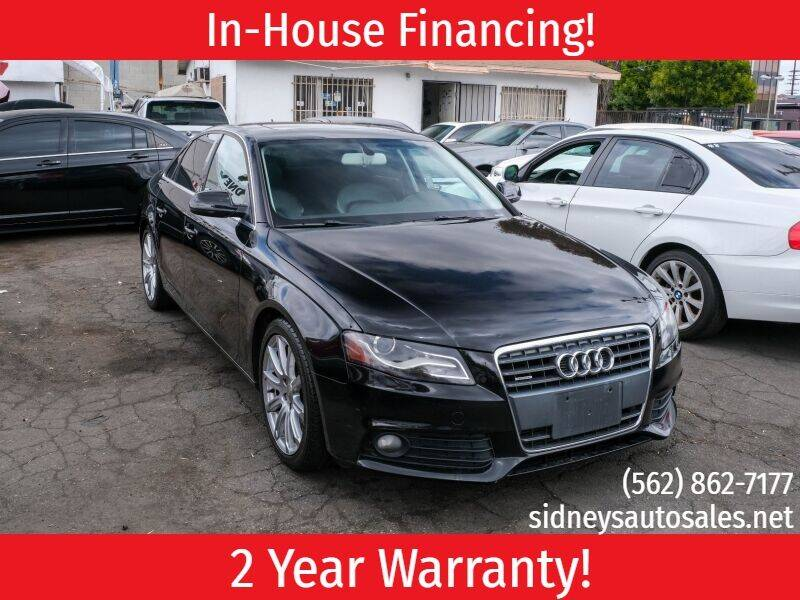 2010 Audi A4 for sale at Sidney Auto Sales in Downey CA