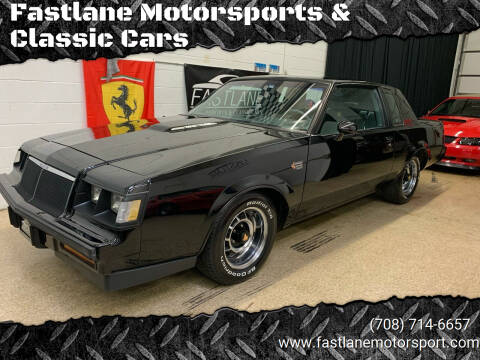 1986 Buick Grand National for sale at Fastlane Motorsports & Classic Cars in Addison IL