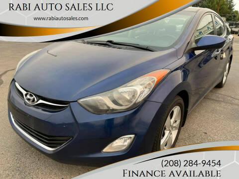 2013 Hyundai Elantra for sale at RABI AUTO SALES LLC in Garden City ID