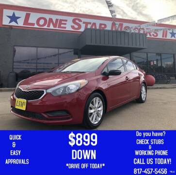 2015 Kia Forte for sale at LONE STAR MOTORS II in Fort Worth TX