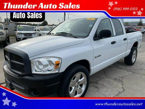 2008 Dodge Ram Pickup 1500 for sale at Thunder Auto Sales in Sacramento CA