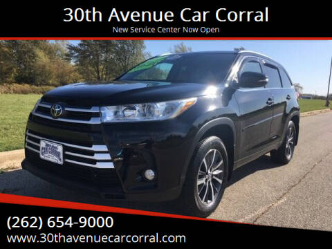 2017 Toyota Highlander for sale at 30th Avenue Car Corral in Kenosha WI