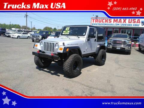 2003 Jeep Wrangler for sale at Trucks Max USA in Manteca CA