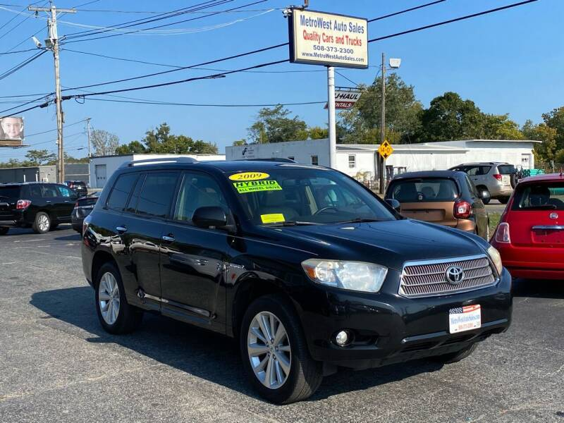 2009 Toyota Highlander Hybrid for sale at MetroWest Auto Sales in Worcester MA
