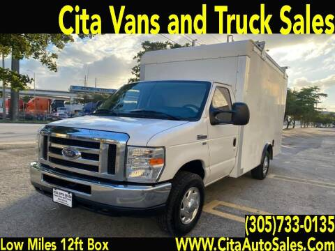 2013 FORD ECONOLINE E350 12 FT BOX TRUCK LOW MILES for sale at Cita Auto Sales in Medley FL