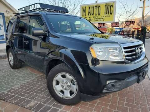 2014 Honda Pilot for sale at M AUTO, INC in Millcreek UT