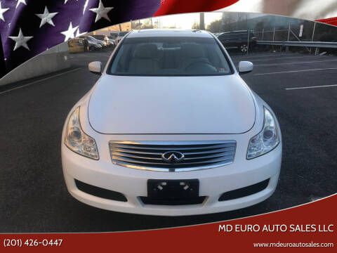 2009 Infiniti G37 Sedan for sale at MD Euro Auto Sales LLC in Hasbrouck Heights NJ
