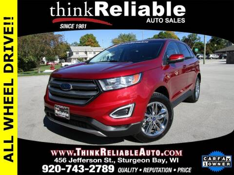 2018 Ford Edge for sale at RELIABLE AUTOMOBILE SALES, INC in Sturgeon Bay WI