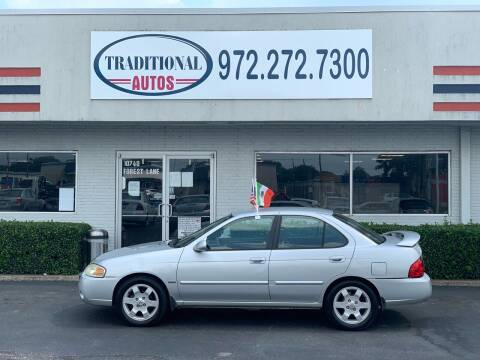 2005 Nissan Sentra for sale at Traditional Autos in Dallas TX
