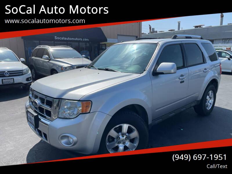 2010 Ford Escape for sale at SoCal Auto Motors in Costa Mesa CA