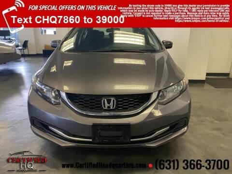 2014 Honda Civic for sale at CERTIFIED HEADQUARTERS in St James NY