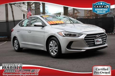 2017 Hyundai Elantra for sale at Warner Motors in East Orange NJ