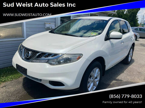 2012 Nissan Murano for sale at Sud Weist Auto Sales Inc in Maple Shade NJ