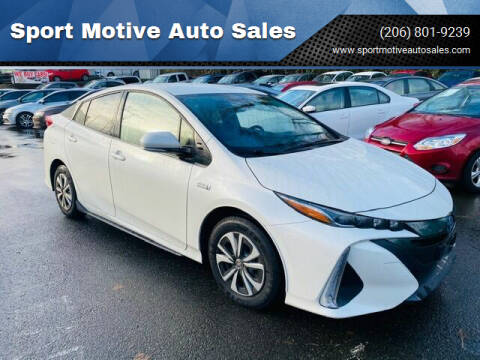 2017 Toyota Prius Prime for sale at Sport Motive Auto Sales in Seattle WA