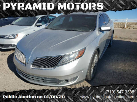 2013 Lincoln MKS for sale at PYRAMID MOTORS - Fountain Lot in Fountain CO